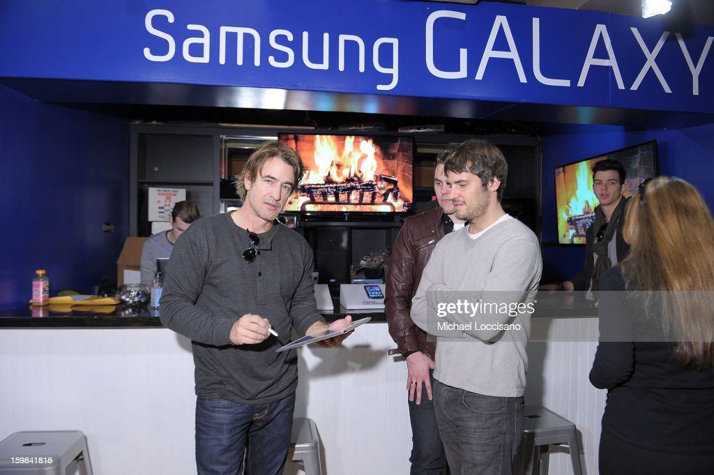 Actor Dermot Mulroney (L) attends Day 4 of Samsung at Village At The Lift 2013 on January 21, 2013 in Park City, Utah.