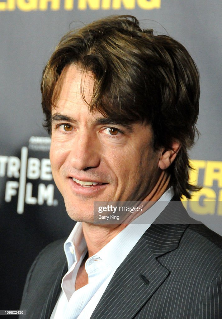 Actor <a gi-track='captionPersonalityLinkClicked' href=/galleries/search?phrase=Dermot+Mulroney&family=editorial&specificpeople=208776 ng-click='$event.stopPropagation()'>Dermot Mulroney</a> attends the 'Struck By Lightning' premiere at Mann Chinese 6 on January 6, 2013 in Los Angeles, California.