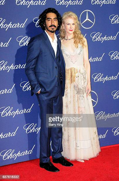 Actor Dev Patel and actress Nicole Kidman attend the 28th Annual Palm Springs International Film Festival Film Awards Gala at the Palm Springs...