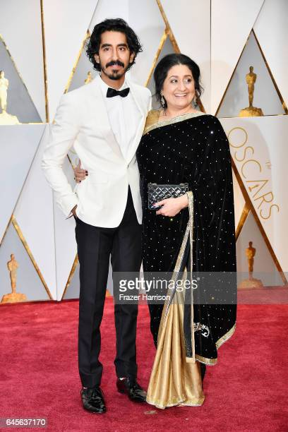 Actor Dev Patel and Anita Patel attend the 89th Annual Academy Awards at Hollywood Highland Center on February 26 2017 in Hollywood California