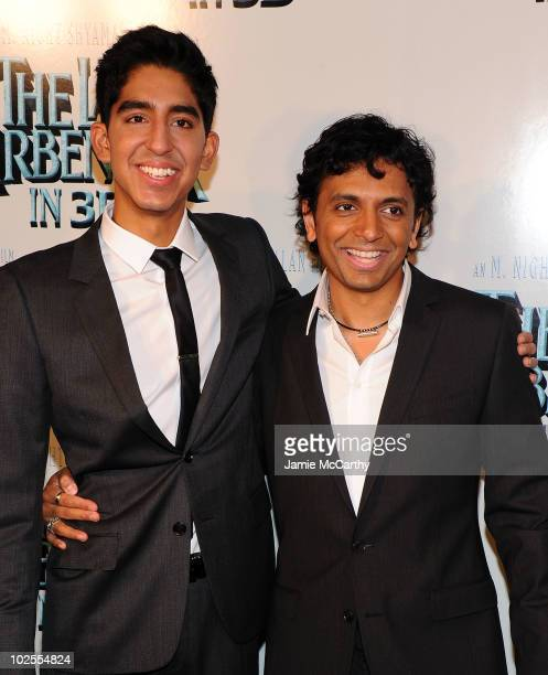 Actor Dev Patel and director M Night Shyamalan attend the premiere of 'The Last Airbender' at Alice Tully Hall on June 30 2010 in New York City