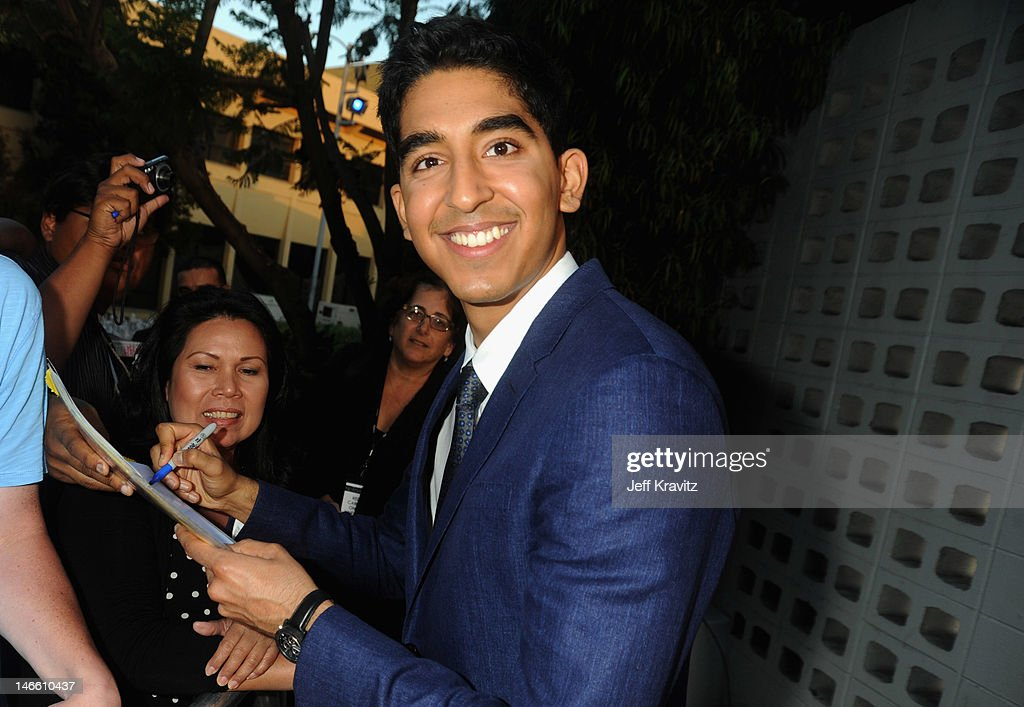 Actor <a gi-track='captionPersonalityLinkClicked' href=/galleries/search?phrase=Dev+Patel&family=editorial&specificpeople=5123545 ng-click='$event.stopPropagation()'>Dev Patel</a> arrives at HBO's New Series 'Newsroom' Los Angeles Premiere at ArcLight Cinemas Cinerama Dome on June 20, 2012 in Hollywood, California.