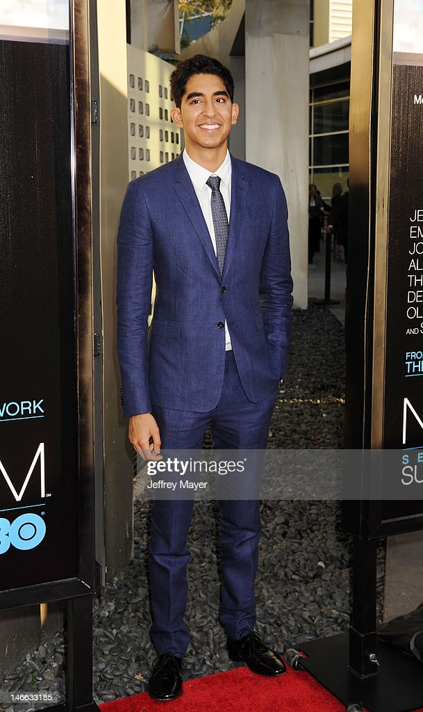 Actor Dev Patel arrives at the Los Angeles premiere of HBO's 'The Newsroom' at ArcLight Cinemas Cinerama Dome on June 20, 2012 in Hollywood, California.