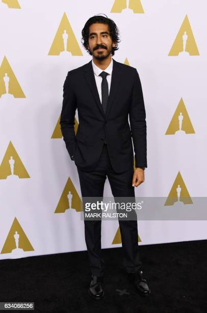 Actor Dev Patel arrives for the 89th Annual Academy Awards Nominee Luncheon at The Beverly Hilton Hotel in Beverly Hills California on February 6...