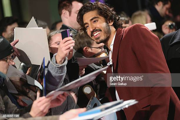 Actor Dev Patel attends a fan event for the film 'CHAPPIE' at Mall of Berlin on February 27 2015 in Berlin Germany