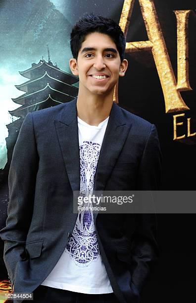 Actor Dev Patel attends a photocall for 'Airbender El Ultimo Guerrero' at the Villamagna Hotel on July 13 2010 in Madrid Spain