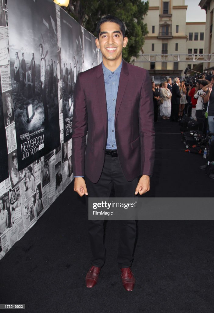 Actor Dev Patel attends HBO's 'The Newsroom' season 2 premiere at Paramount Studios on July 10, 2013 in Hollywood, California.