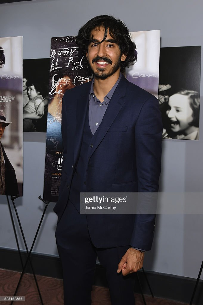 Actor Dev Patel attends 'The Man Who Knew Infinity' New York screening at Chelsea Bow Tie Cinemas on April 27, 2016 in New York City.