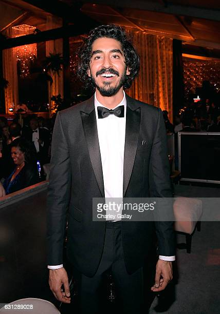 Actor Dev Patel attends The Weinstein Company and Netflix Golden Globes Party presented with Landmark Vineyards at The Beverly Hilton Hotel on...