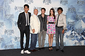 Actor Dev Patel producer Frank Marshall actor Jackson Rathbone actress Nicole Peltz and director M Night Shyamalan attend a 'The Last Airbender'...