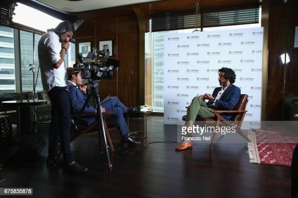 Actor Dev Patel speaks to media at Four Seasons DIFC on May 2 2017 in Dubai United Arab Emirates Actor Dev Patel is in Dubai for the Chivas Icons The...