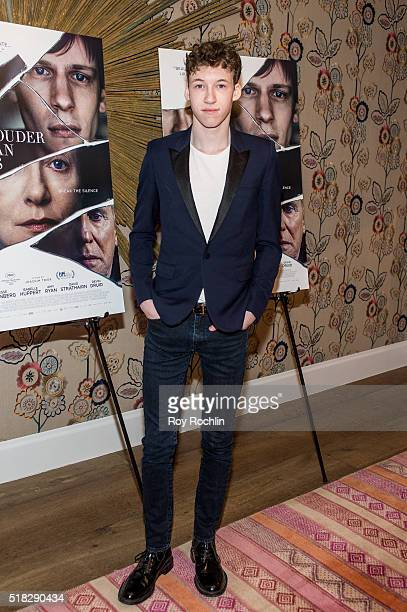 Actor Devin Druid attends the New York premiere of 'Louder Than Bombs' at the Crosby Street Hotel on March 30 2016 in New York City
