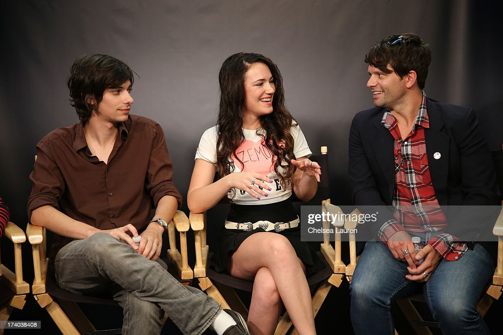Actor Devon Bostick, director/actress April Mullen, and writer Tim Doiron attend the 'Dead Before Dawn 3D' at the Movies On Demand Lounge during Comic-Con International 2013 at Hard Rock Hotel San Diego on July 19, 2013 in San Diego, California.