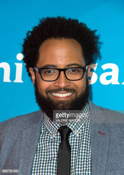 Actor Diallo Riddle of 'Marlon' arrives at the NBC Universal Summer Press Day at the Beverly Hilton on March 20 Beverly Hills California / AFP PHOTO...