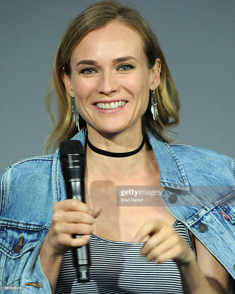 Actor Diane Kruger discusses the film 'Disorder' at the Apple Store Soho on August 9 2016 in New York City