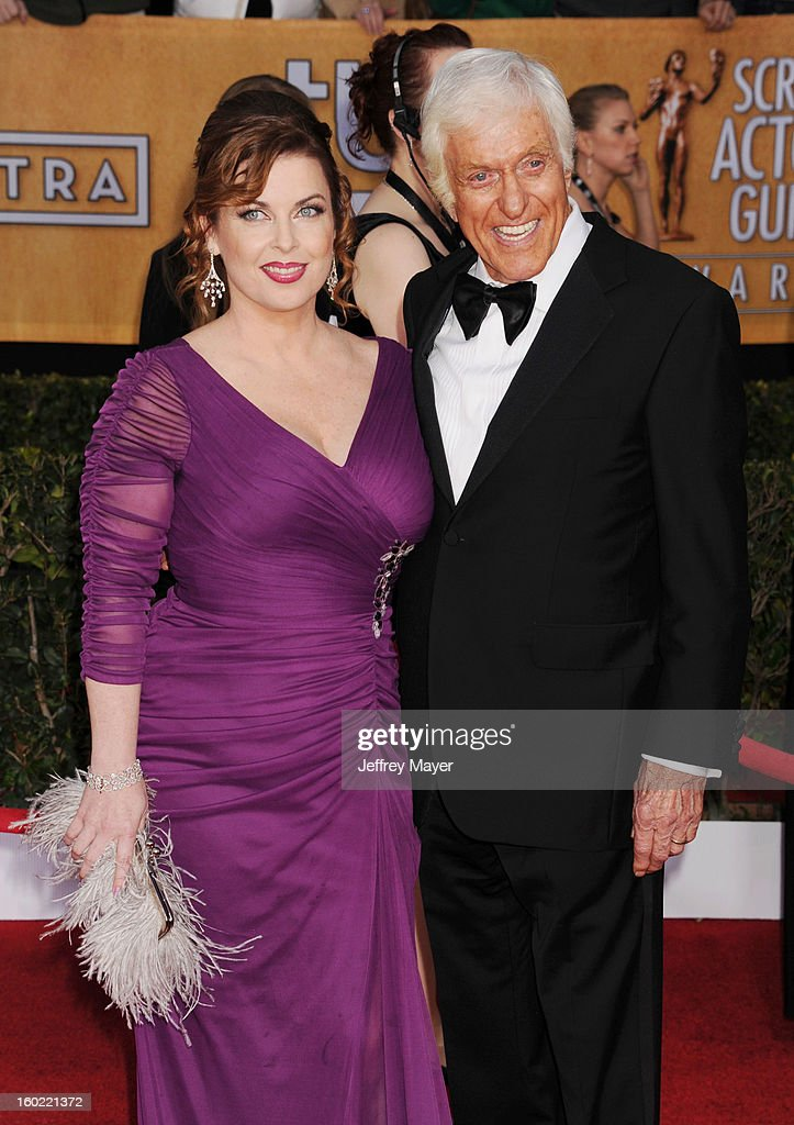 Actor Dick Van Dyke (R) and Arlene Silver arrive at the 19th Annual Screen Actors Guild Awards at The Shrine Auditorium on January 27, 2013 in Los Angeles, California.