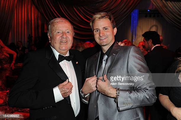 Actor Dick Van Patten and musician Jaysin Voxx attend the Beckstrand Cancer Foundation's 9th annual Diamond Pearl Ball 'An Evening in Russia' at...