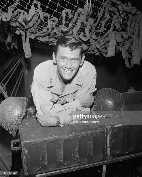 Actor Dick York as Captain Riker in 'The Purple Testament' episode 19 from the first season of the television series 'The Twilight Zone' September 9...
