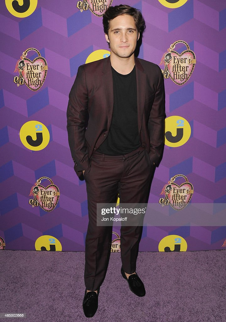 Actor Diego Boneta arrives at Just Jared's Way To Wonderland Presented By Ever After High at Greystone Manor Supperclub on August 27 2015 in West...