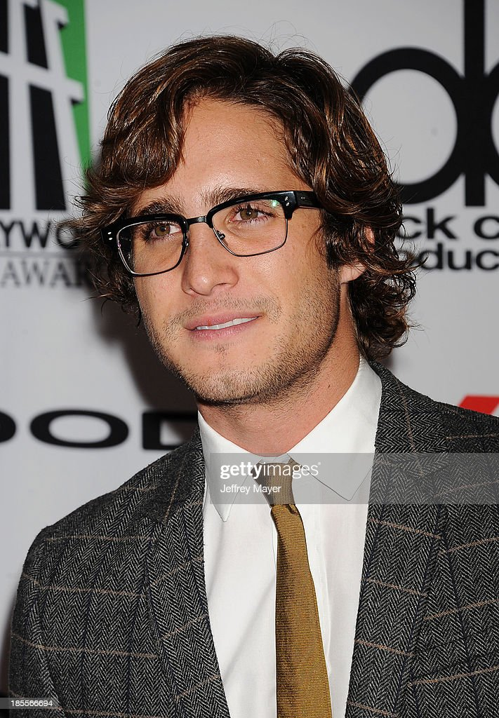 Actor Diego Boneta arrives at the 17th Annual Hollywood Film Awards at The Beverly Hilton Hotel on October 21 2013 in Beverly Hills California