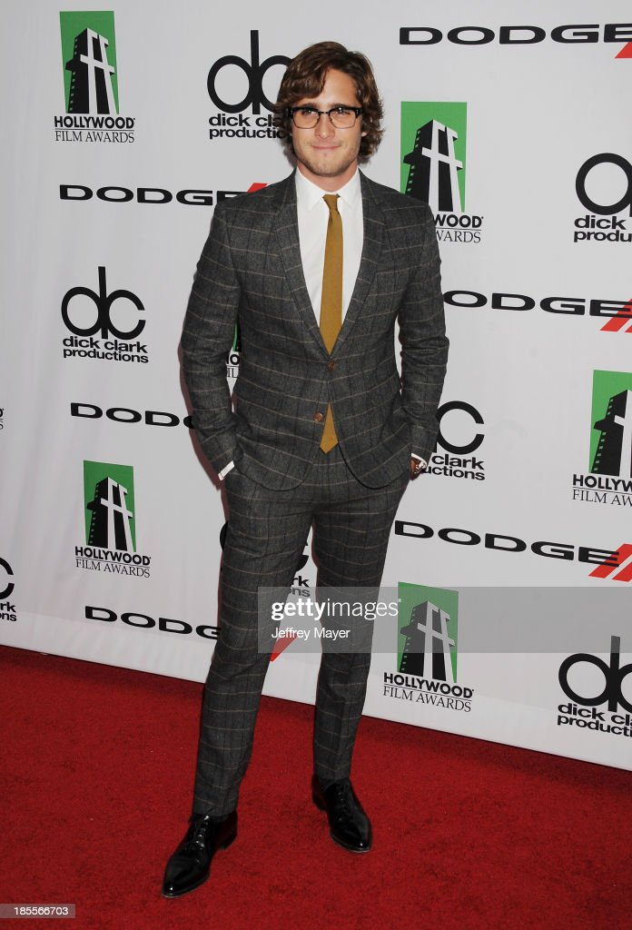 Actor Diego Boneta arrives at the 17th Annual Hollywood Film Awards at The Beverly Hilton Hotel on October 21, 2013 in Beverly Hills, California.