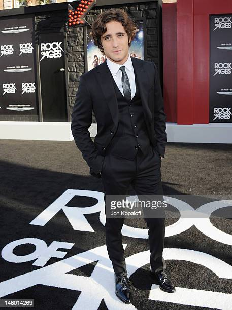 Actor Diego Boneta arrives at the Los Angeles Premiere 'Rock Of Ages' at Grauman's Chinese Theatre on June 8 2012 in Hollywood California