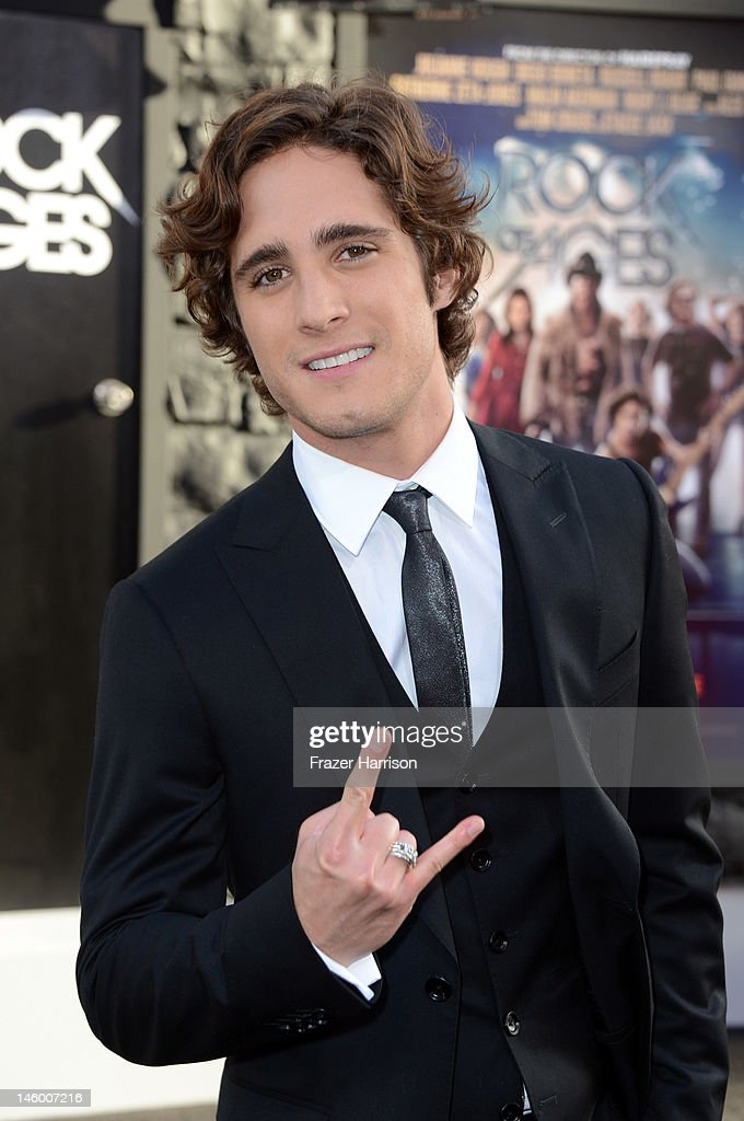 Actor Diego Boneta arrives at the premiere of Warner Bros Pictures' 'Rock of Ages' at Grauman's Chinese Theatre on June 8 2012 in Hollywood California