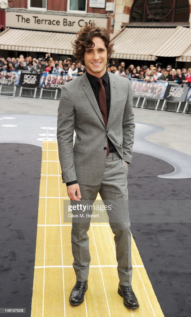 Actor Diego Boneta attends the European Premiere of 'Rock Of Ages' at Odeon Leicester Square on June 10 2012 in London England
