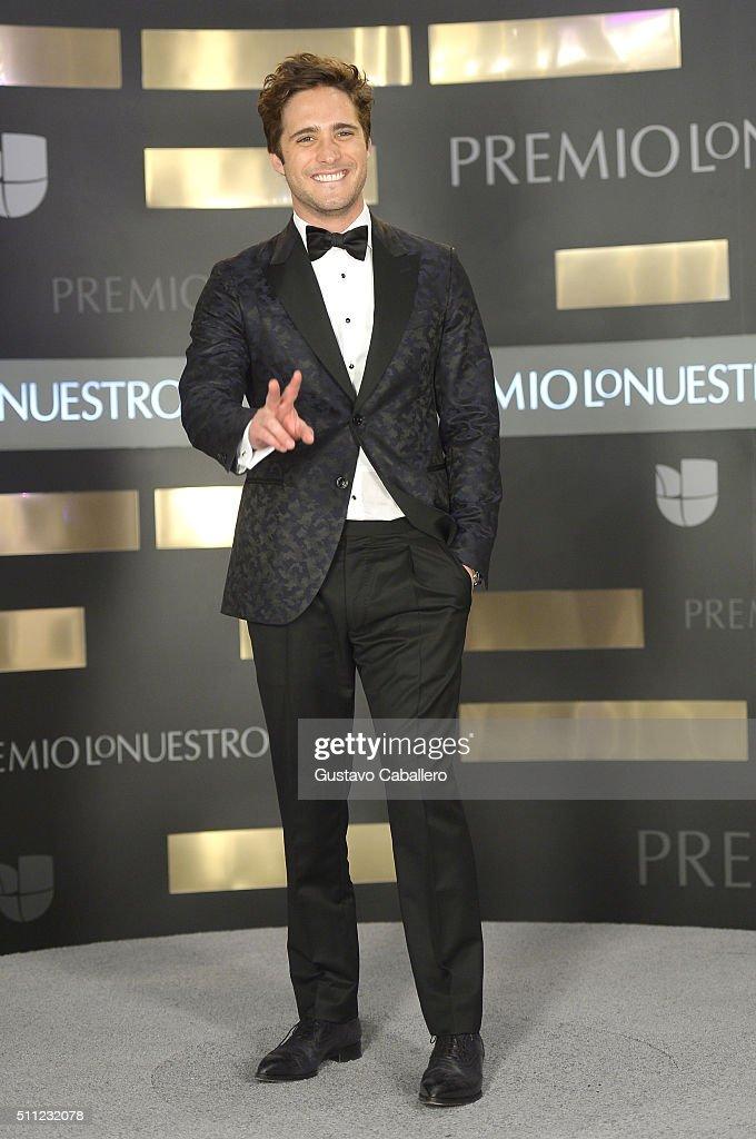 Actor Diego Boneta attends Univision's 28th Edition of Premio Lo Nuestro A La Musica Latina on February 18 2016 in Miami Florida