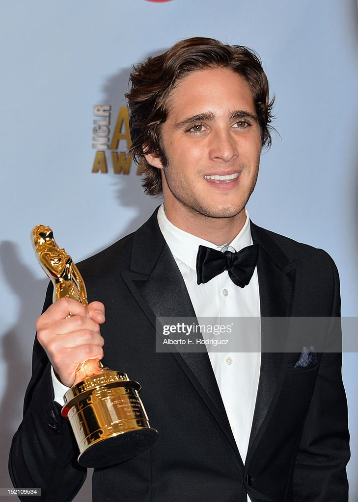 Actor <a gi-track='captionPersonalityLinkClicked' href=/galleries/search?phrase=Diego+Boneta&family=editorial&specificpeople=6787641 ng-click='$event.stopPropagation()'>Diego Boneta</a> poses in the press room during the 2012 NCLR ALMA Awards at Pasadena Civic Auditorium on September 16, 2012 in Pasadena, California.