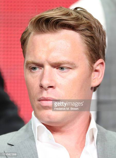 Actor Diego Klattenhoff speaks onstage during 'The Blacklist' panel discussion at the NBC portion of the 2013 Summer Television Critics Association...