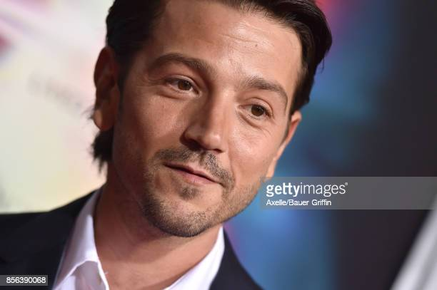 Actor Diego Luna arrives at the premiere of 'Flatliners' at The Theatre at Ace Hotel on September 27 2017 in Los Angeles California