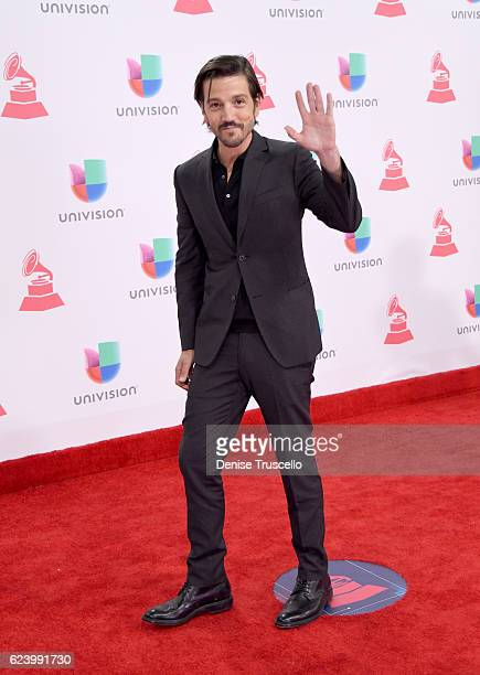 Actor Diego Luna attends The 17th Annual Latin Grammy Awards at TMobile Arena on November 17 2016 in Las Vegas Nevada
