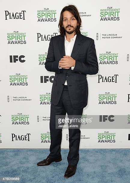 Actor Diego Luna attends the 2014 Film Independent Spirit Awards on March 1 2014 in Santa Monica California