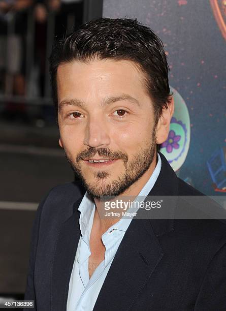 Actor Diego Luna attends 'The Book Of Life' Los Angeles premiere at Regal 14 at LA Live Downtown on October 12 2014 in Los Angeles California