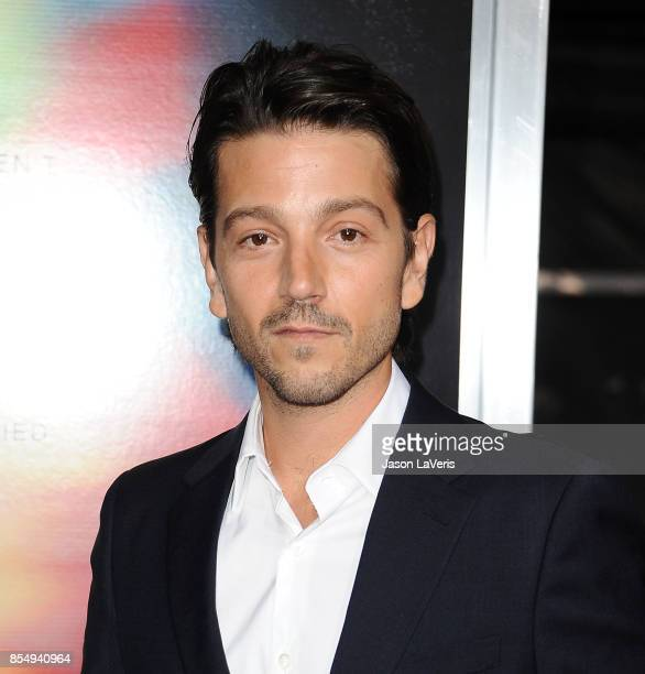Actor Diego Luna attends the premiere of 'Flatliners' at The Theatre at Ace Hotel on September 27 2017 in Los Angeles California