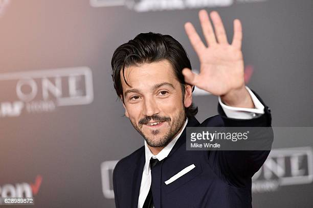 Actor Diego Luna attends the premiere of Walt Disney Pictures and Lucasfilm's 'Rogue One A Star Wars Story' at the Pantages Theatre on December 10...