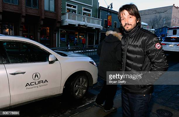 Actor Diego Luna is seen during the 2016 Sundance Film Festival on January 25 2016 in Park City Utah