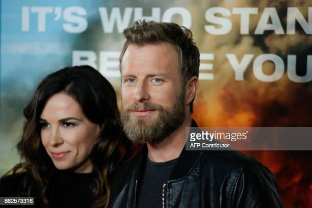 Actor Dierks Bentley and his wife Cassidy Black attend the 'Only the Brave' New York screening at iPic Theater on October 17 in New York / AFP PHOTO...