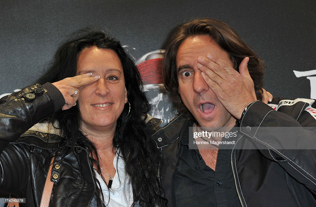 Actor Dieter Landuris (R) and wife Natascha Landuris pose during the Germany Premiere of 'Pirates Of The Caribbean: On Stranger Tides' at the Mathaeser Filmpalast on May 16, 2011 in Munich, Germany.