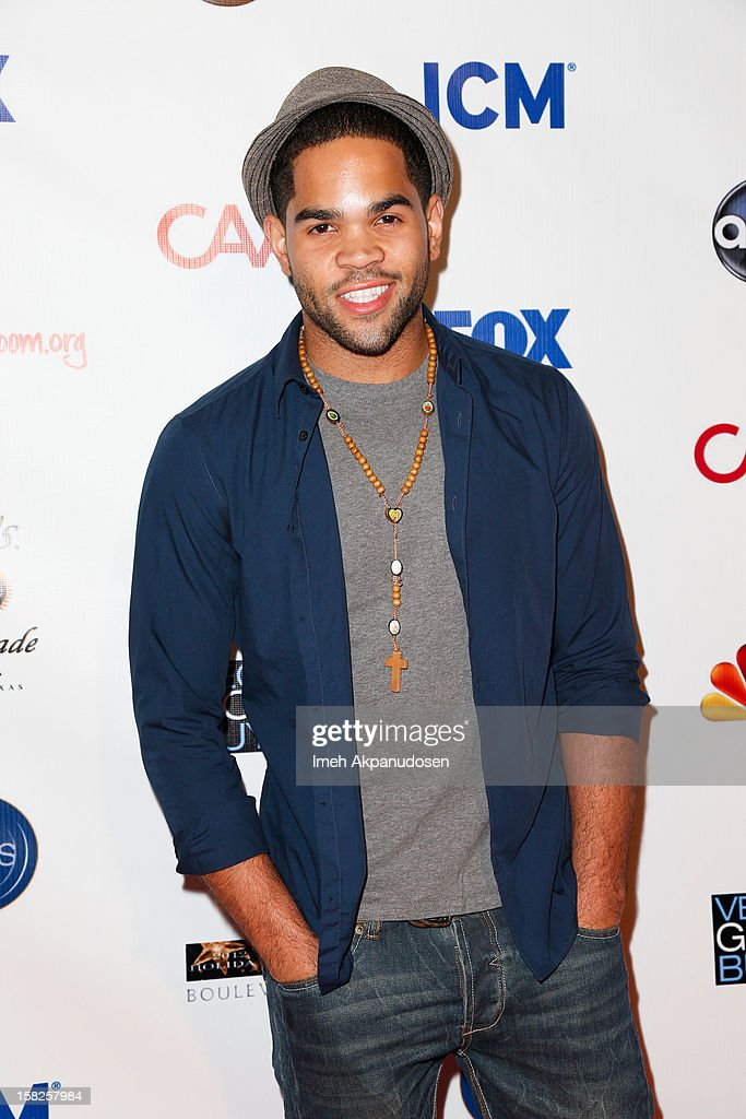 Actor Dijon Talton attends the Junior Hollywood Radio & Television Society (JHRTS) Holiday Party at Boulevard3 on December 11, 2012 in Hollywood, California.