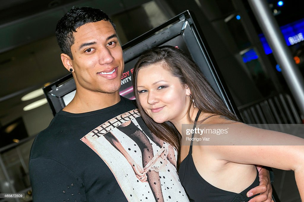 Actor Dio Johnson and Paige Aguirre attend the 'Best Night Ever' Los Angeles Premiere at ArcLight Cinemas on January 29, 2014 in Hollywood, California.