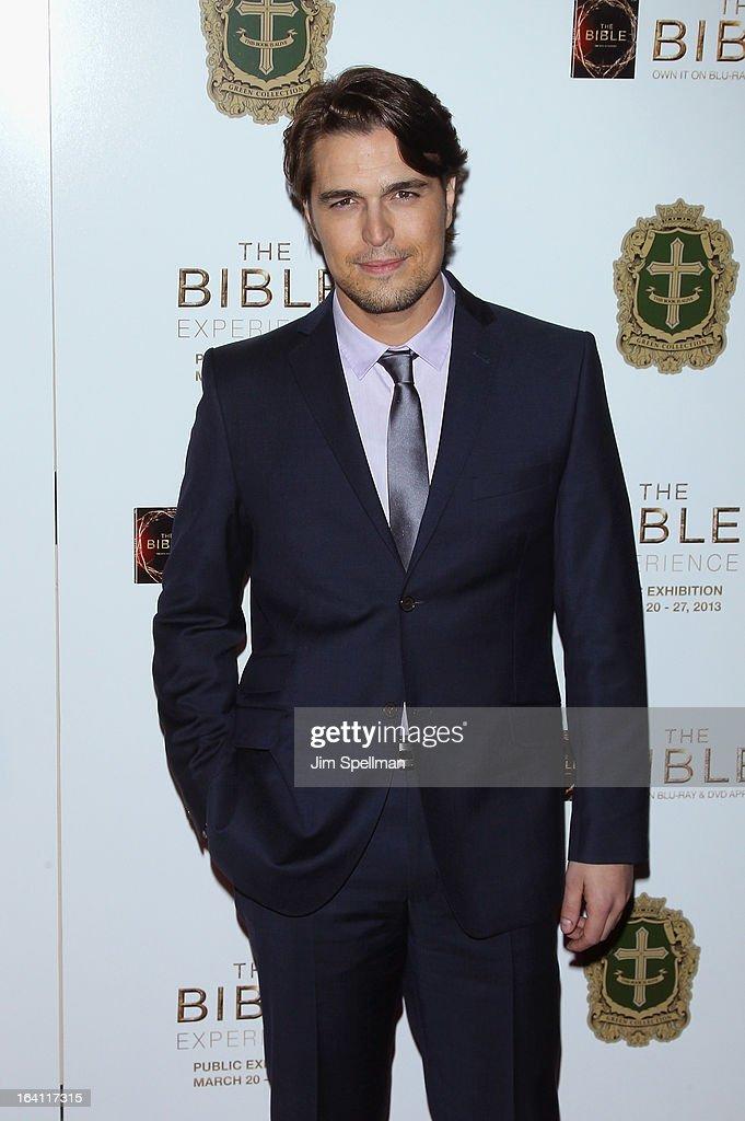 Actor Diogo Morgado attends 'The Bible Experience' Opening Night Gala at The Bible Experience on March 19, 2013 in New York City.