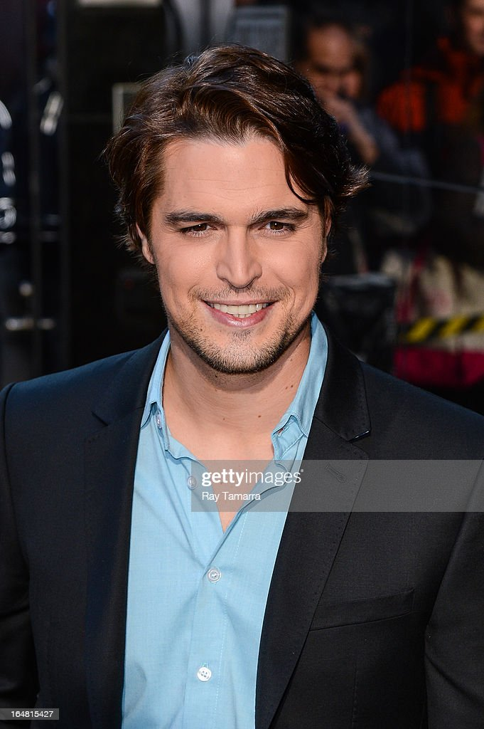 Actor Diogo Morgado leaves the 'Good Morning America' taping at the ABC Times Square Studios on March 28, 2013 in New York City.