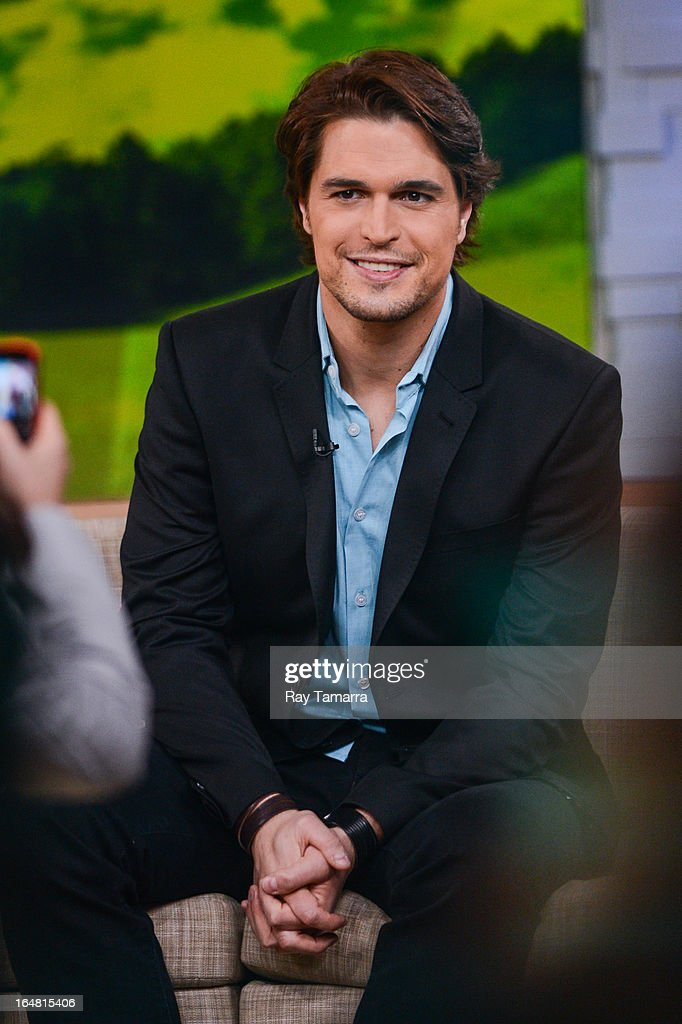 Actor Diogo Morgado tapes an interview at 'Good Morning America' at the ABC Times Square Studios on March 28, 2013 in New York City.