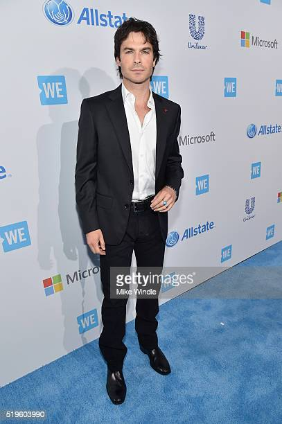 Actor director and Founder of the Ian Somerhalder Foundation Ian Somerhalder attends WE Day California 2016 at The Forum on April 7 2016 in Inglewood...