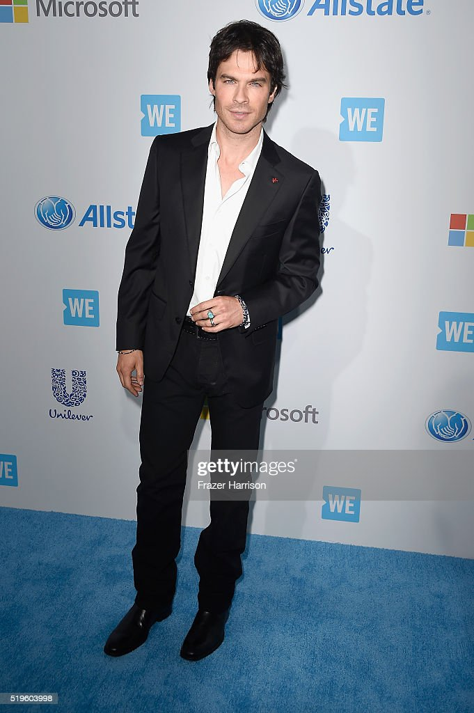 Actor, director and Founder of the <a gi-track='captionPersonalityLinkClicked' href=/galleries/search?phrase=Ian+Somerhalder&family=editorial&specificpeople=614226 ng-click='$event.stopPropagation()'>Ian Somerhalder</a> Foundation <a gi-track='captionPersonalityLinkClicked' href=/galleries/search?phrase=Ian+Somerhalder&family=editorial&specificpeople=614226 ng-click='$event.stopPropagation()'>Ian Somerhalder</a> attends WE Day California 2016 at The Forum on April 7, 2016 in Inglewood, California.
