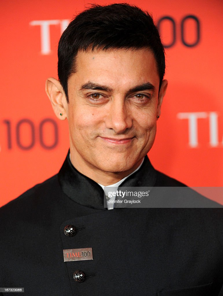 Actor, director and producer <a gi-track='captionPersonalityLinkClicked' href=/galleries/search?phrase=Aamir+Khan+-+Actor&family=editorial&specificpeople=806800 ng-click='$event.stopPropagation()'>Aamir Khan</a> attends the 2013 Time 100 Gala at Frederick P. Rose Hall, Jazz at Lincoln Center on April 23, 2013 in New York City.