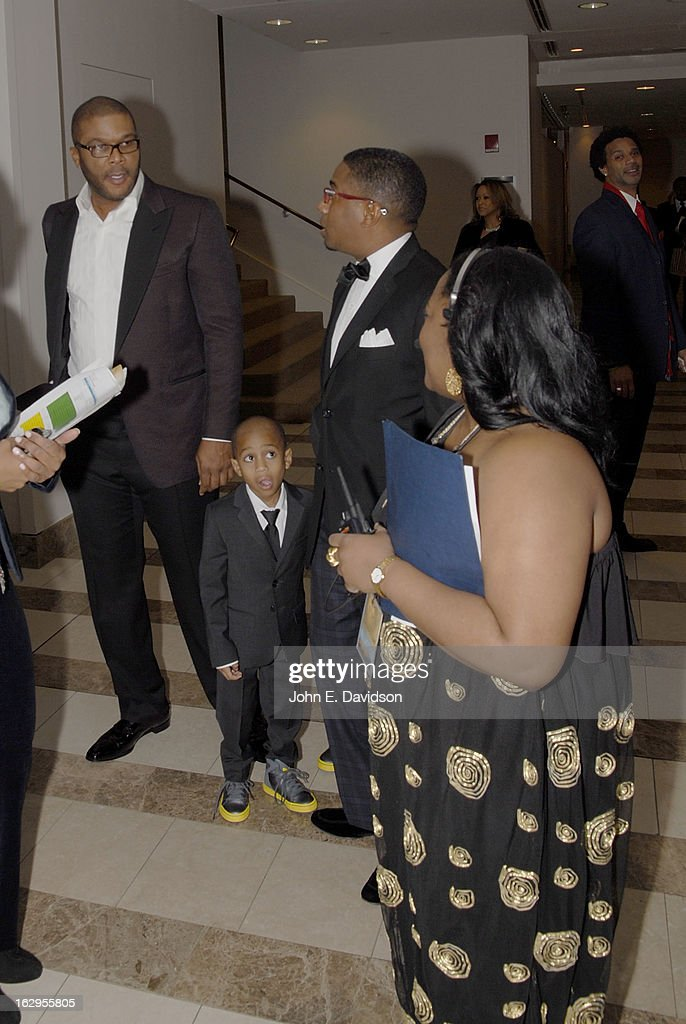 Actor, Director and Writer <a gi-track='captionPersonalityLinkClicked' href=/galleries/search?phrase=Tyler+Perry&family=editorial&specificpeople=678008 ng-click='$event.stopPropagation()'>Tyler Perry</a> and Director Elvin Ross attends the 'Kunta Kinteh Island: Coming Home Without Shackles' premiere at the Woodruff Arts Center on March 1, 2013 in Atlanta, Georgia.