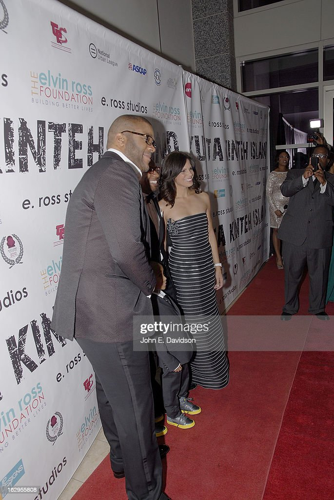 Actor, Director and Writer Tyler Perry, Director Elvin Ross and Newswoman Soledad O'Brien attends the 'Kunta Kinteh Island: Coming Home Without Shackles' premiere at the Woodruff Arts Center on March 1, 2013 in Atlanta, Georgia.